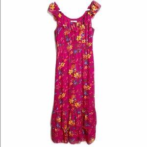 Old Navy Fuchsia Floral Boho Maxi Dress